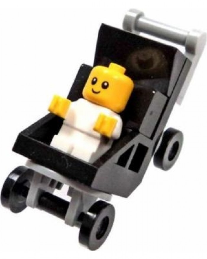 lego baby and stroller minifigure