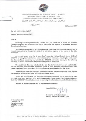 interpol letter